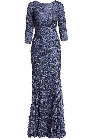 THEIA Women Evening dresses - Women's Petal Boat-Neck Gown - - Size 16