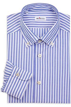 Kiton Men's Contemporary-Fit Bengal Stripe Dress Shirt - - Size 39 (15.5)