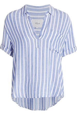 Rails Women's Savannah Striped Draped Blouse - Juneau Stripe - Size Medium
