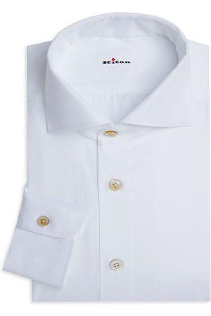 Kiton Men's Contemporary-Ft Twill Dress Shirt - - Size 41 (16)