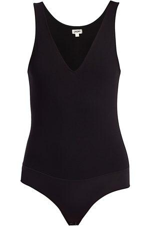 L'Agence Women's Winnie Deep-V Bodysuit - - Size XS