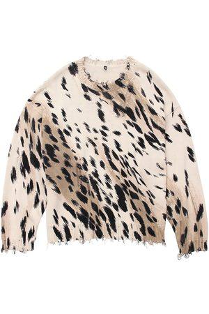 R13 Women's Cheetah Oversized Sweater - - Size Large