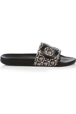 Salvatore Ferragamo Men's Grove Print Slides - - Size 13 Sandals