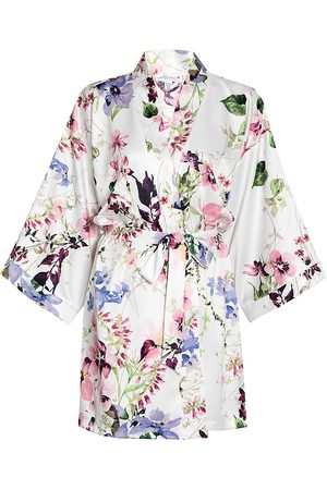 In Bloom Women's And I Love Her Floral Robe - - Size Medium-Large