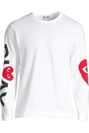 Comme des Garçons Men's Play Logo Long-Sleeve Cotton Tee - - Size Medium