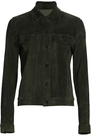 The Row Women's Coltra Suede Jacket - - Size Small