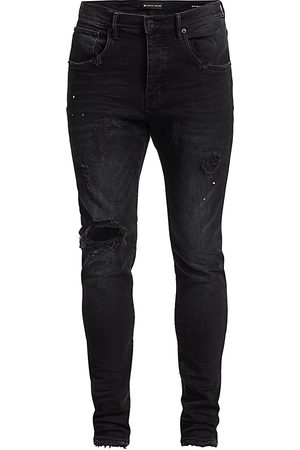 Purple Brand Men's P002 Slim Dropped Fit Repair Jeans - - Size 34