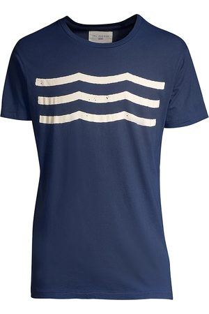 SOL ANGELES Men's Heathered Wave Patterned Tee - - Size XL