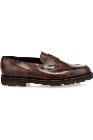 JOHN LOBB Men's Lopez Chunky Leather Penny Loafers - - Size 8 UK (9 US)