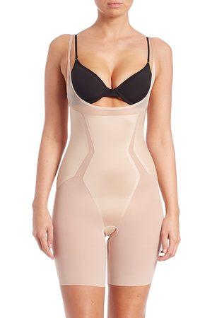 Spanx Women's Haute Contour Open-Bust Mid-Thigh Shape Suit - - Size XL
