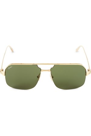 Cartier Men's 59MM Goldtone Aviator Sunglasses