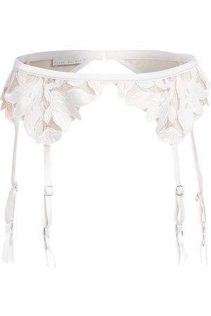 FLEUR DU MAL Women's Lily Lace Garter - - Size 3 (Medium)