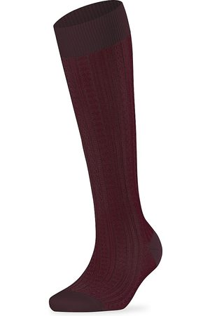 Falke Women's Chain Stitch Knee-High Socks - - Size 39-42 (9-12)