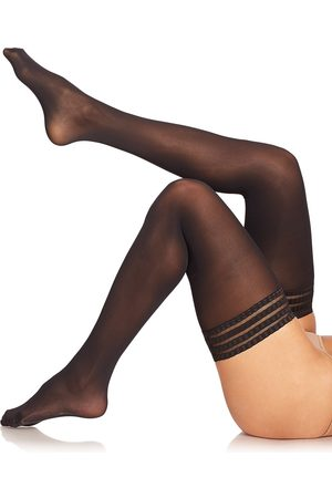 Falke Women's Pure Matte 50 Opaque Stay-Up Thigh Highs - - Size Large