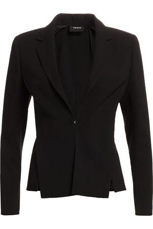 AKRIS Women Blazers - Women's Slit Detail Wool Blazer - - Size 16