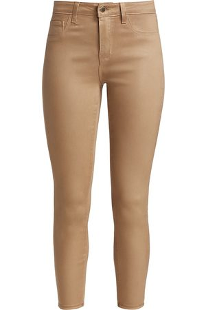 L'Agence Women's Margot High-Rise Ankle Skinny Coated Jeans - - Size 31 (10)
