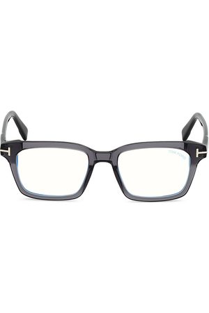 Tom Ford Men's 51MM Plastic Blue Filter Optical Glasses