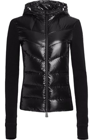 Moncler Technical Hooded Nylon Fleece Zip Jacket