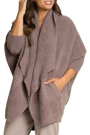 Barefoot Dreams Women's Cozychic Chevron Ribbed Cardigan - - Size Small-Medium
