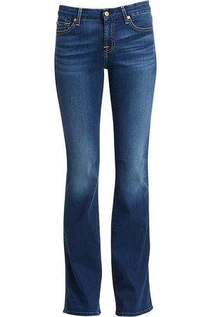 7 for all Mankind Women's b(air) Kimmie Mid-Rise Bootcut Jeans - - Size 32 (10-12)
