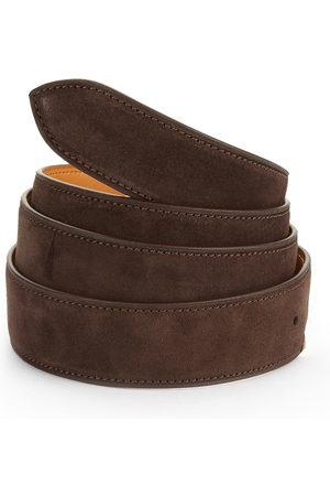 CORTHAY Men's Suede Belt - - Size Large (110 cm)