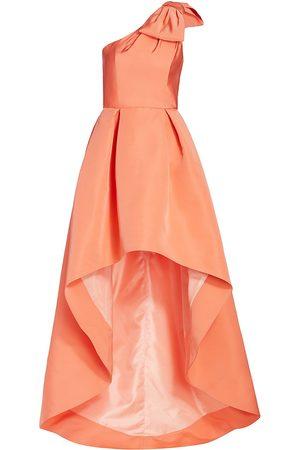 Alexia Maria Women's Blair High-Low Silk Gown - - Size 6