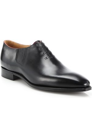 CORTHAY Men's Twist Pullman French Calf Leather Piped Oxfords - - Size 13