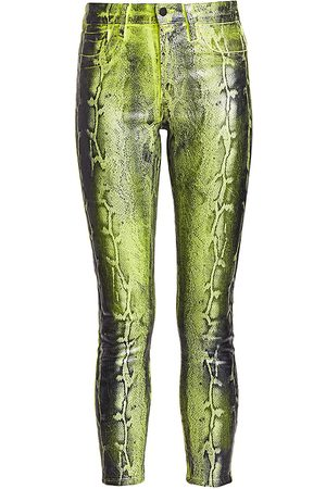 L'Agence Women's Margot Low-Rise Snake Print Skinny Jean - - Size 29 (6-8)