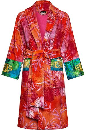 VERSACE Men's Logo Toweling Jungle Print Bathrobe - - Size Medium