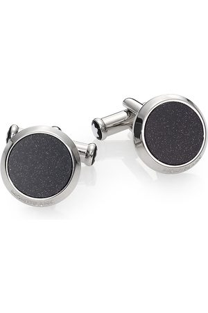 Mont Blanc Men's Goldstone & Stainless Steel Cuff Links