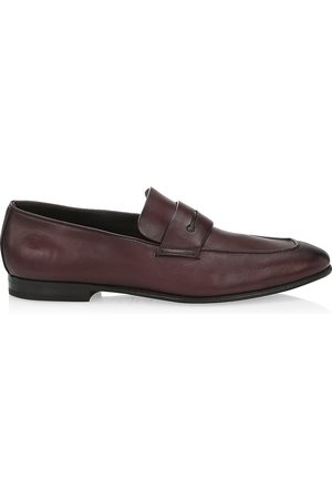 Ermenegildo Zegna Men's L'Asola Leather Penny Loafers - - Size 12 EE