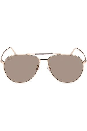 Bally Men's 62MM Metal Aviator Sunglasses