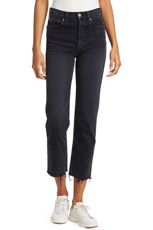 RE/DONE Women's High-Rise Stovepipe Comfort Stretch - - Size 32 (10-12)
