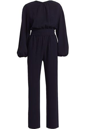 Carolina Ritzler Women's Belted Billow Long-Sleeve Jumpsuit - - Size 42 (6)