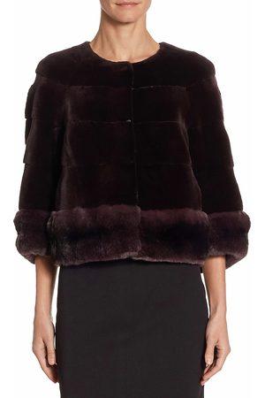 The Fur Salon Women's Mink Chinchilla Jacket - - Size Small