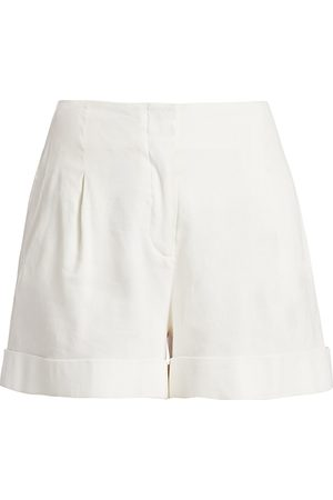 RAG&BONE Women's Jess Pleated Stretch-Linen Shorts - - Size 6