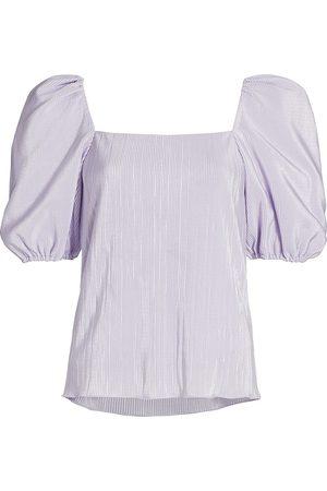 JONATHAN SIMKHAI Women's Ruby Puff-Sleeve Top - - Size XL