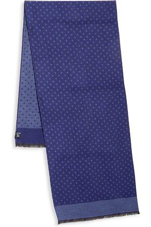 Kiton Men's Polka Dot Wool & Silk Scarf