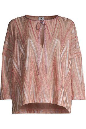 M Missoni Women's Jersey Zig Zag Blouse - - Size XL