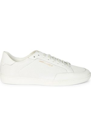 Saint Laurent Men's Court Classic Perforated Leather Sneakers - - Size 45 (12)