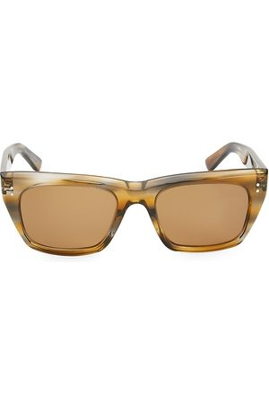 Céline Men's 53MM Animal Print Square Sunglasses