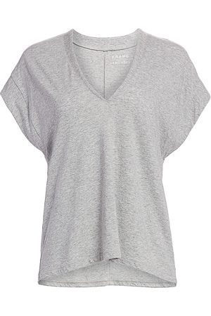 Frame Women's Le Mid Rise V-Neck Tee - - Size Small