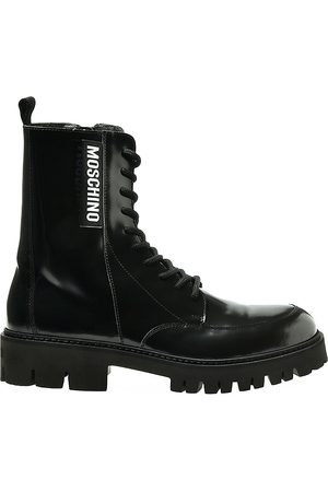 Moschino Men's Lug-Sole Ankle Boots - - Size 46 (13)