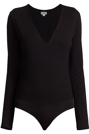 L'Agence Women's Nikki Long-Sleeve Bodysuit - - Size Large