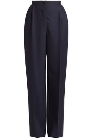 Alaïa Women's Wool & Mohair Pants - - Size 36 (2-4)