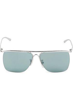 Balenciaga Men's 61MM Rectangular Metal Sunglasses