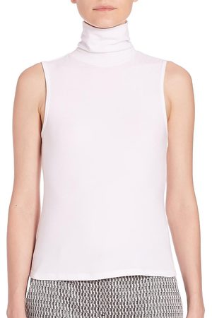 THEORY Women's Wendel Turtleneck Jersey Tank - - Size Large