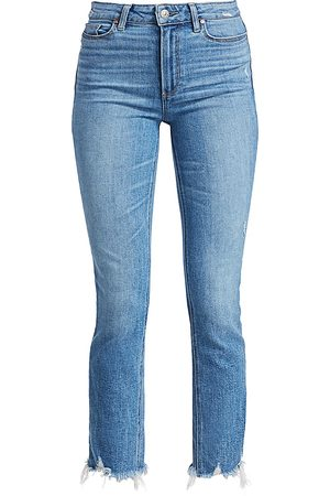 Paige Women's Cindy High-Rise Distress Ankle Jeans - - Size 30 (8-10)