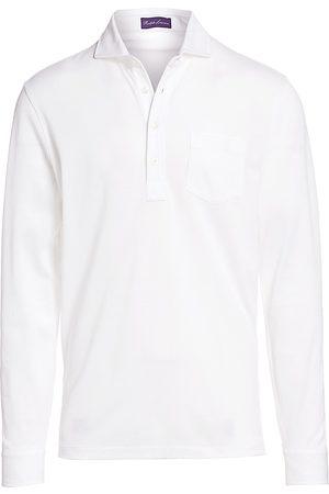 Ralph Lauren Men's Washed Non-Logo Long Sleeve Polo - - Size XL