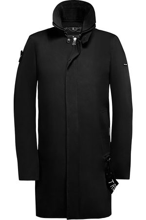 Trench London Men's The Knight Covered Placket Zip-Front Coat - - Size XL